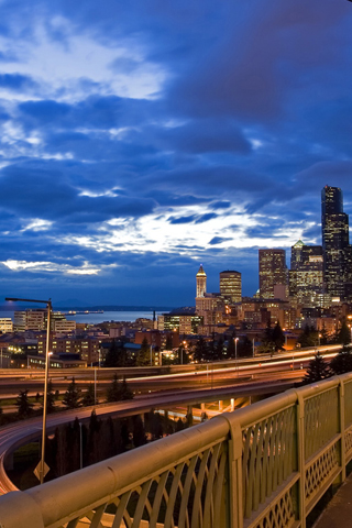 Over the Bridge iPhone Wallpaper