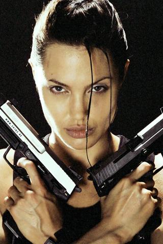 Angelina Jolie iPhone Wallpaper