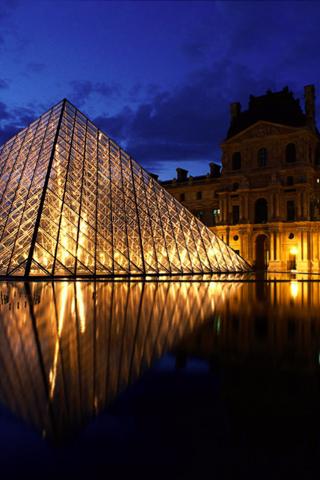 Grande Louvre iPhone Wallpaper