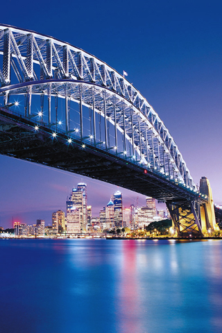 Sydney Harbour Bridge iPhone Wallpaper