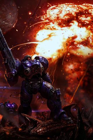 Starcraft 2 iPhone Wallpaper