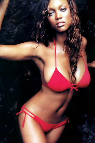 tyra banks modeling victoria secret. Tyra Banks iPhone Wallpaper