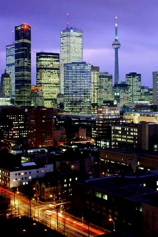 Toronto Skyline iPhone Wallpaper