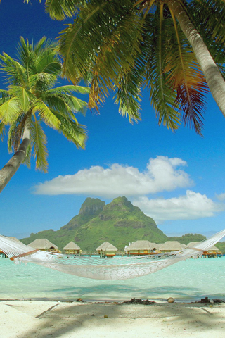 Come Rest at Bora Bora iPhone Wallpaper