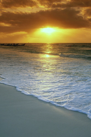 Sunset on Playa Del Carmen iPhone Wallpaper