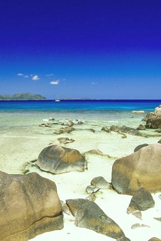 La Digue Isle, Seychelles iPhone Wallpaper