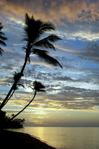 Fiji Sunset IPhone Wallpaper