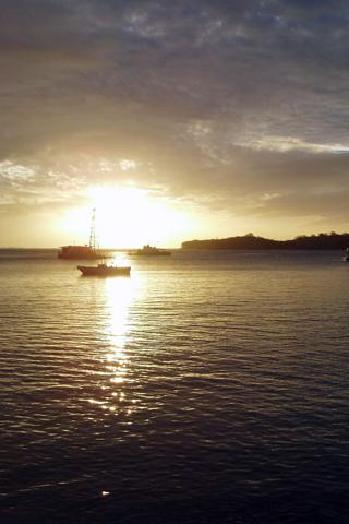 Fiji Sunrise iPhone Wallpaper