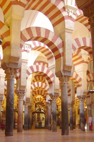 Interior of La Mezquita De Cordoba iPhone Wallpaper