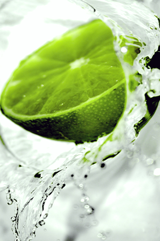 Splash of Lime iPhone Wallpaper