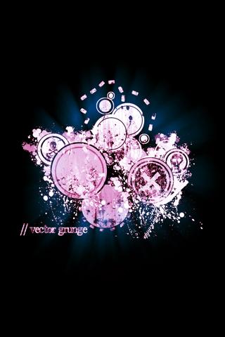 Vector Grunge iPhone Wallpaper