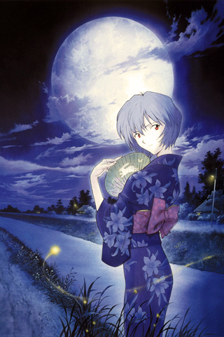 Rei's Moon iPhone Wallpaper