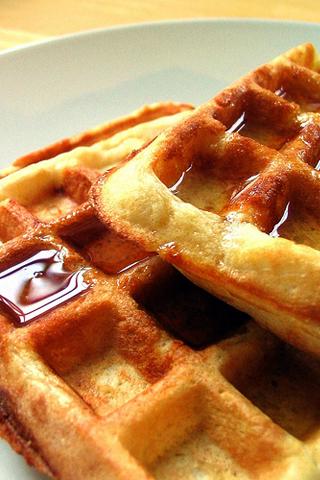 Waffles iPhone Wallpaper