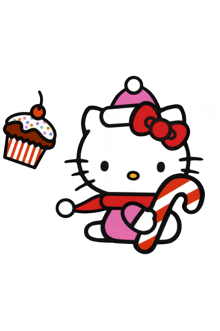 Hello Kitty Christmas iPhone Wallpaper