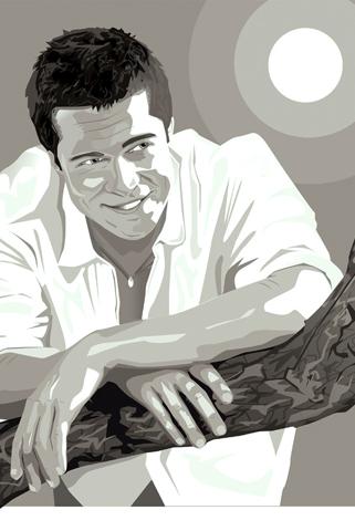 Brad Pitt Vector iPhone Wallpaper