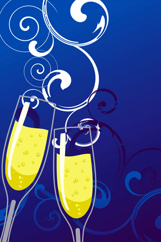 Champagne Glasses iPhone Wallpaper