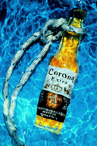 Corona in the Water iPhone Wallpaper