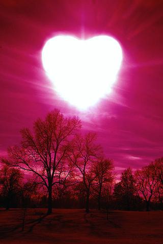Heartful Sun iPhone Wallpaper