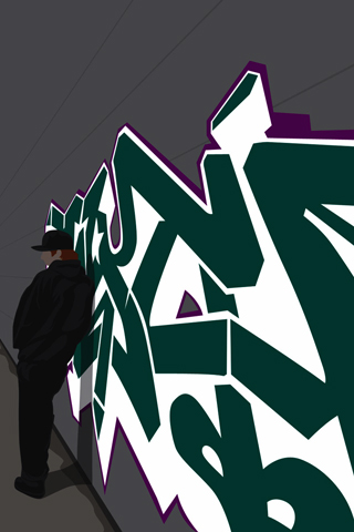 Graffiti Vector iPhone Wallpaper