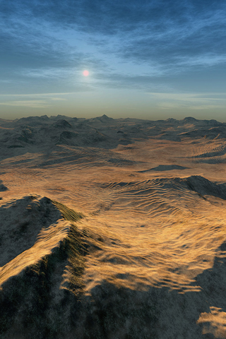 Mountainous Desert iPhone Wallpaper