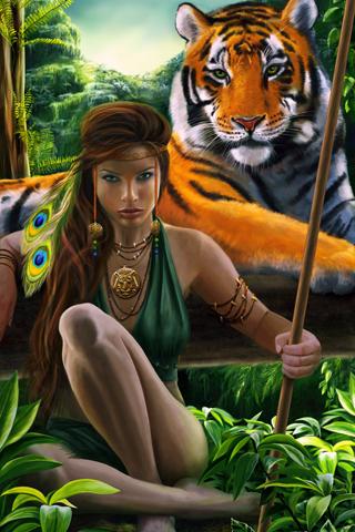 Amazon Girl iPhone Wallpaper