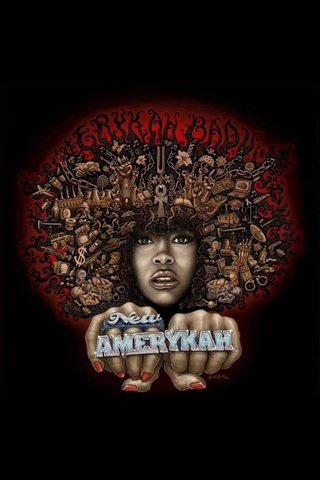 Erykah Badu - New Amerykah iPhone Wallpaper