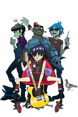 Gorillaz iPhone Wallpaper