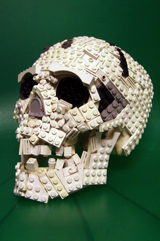 Lego Skull iPhone Wallpaper