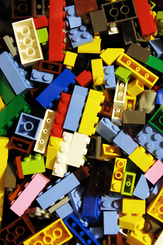 Lego Blocks iPhone Wallpaper