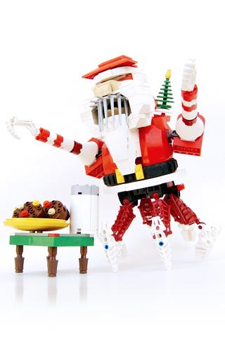 Lego Santa Claus iPhone Wallpaper