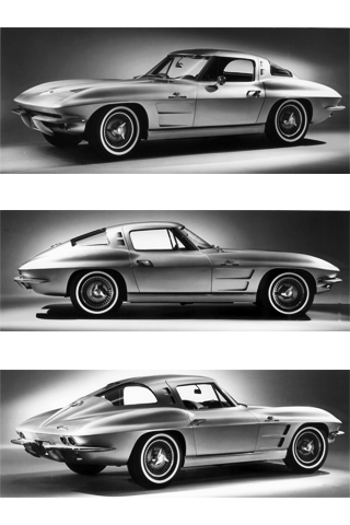 1963 Corvette Sting Ray iPhone Wallpaper