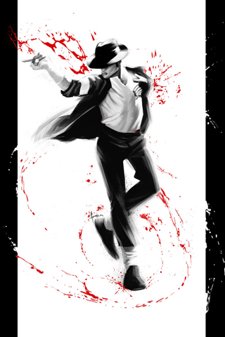 Michael Jackson FanArt iPhone Wallpaper
