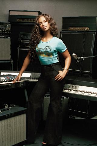 Alicia Keys iPhone Wallpaper