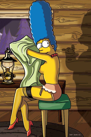 Marge Simpson - Playboy iPhone Wallpaper