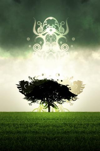 Vector Tree iPhone Wallpaper