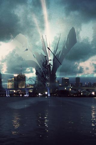 Vector City iPhone Wallpaper