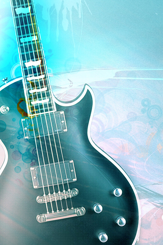Blue Guitar iPhone Wallpaper