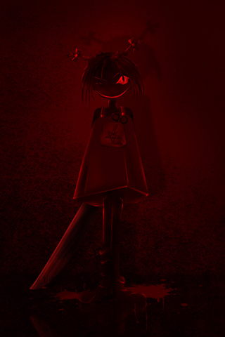 Evil Girl iPhone Wallpaper