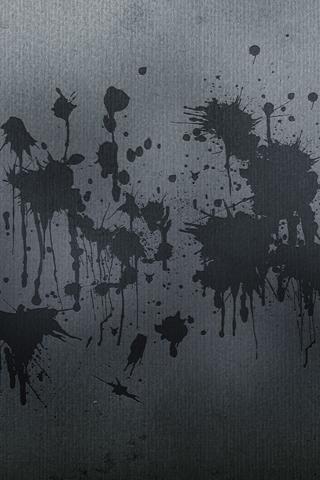 Grey Splatters iPhone Wallpaper