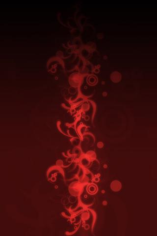 Red Vectors iPhone Wallpaper