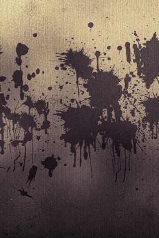 Pale Splatters iPhone Wallpaper