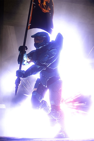 Halo Explosion iPhone Wallpaper