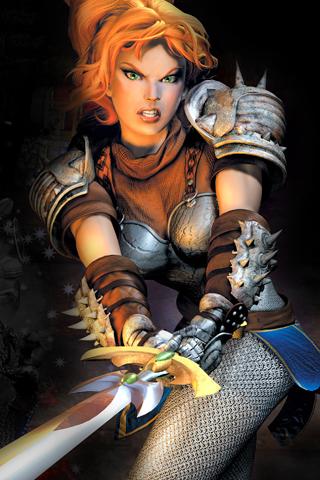 Girl With Sword iPhone Wallpaper