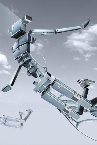 Jumping Robots iPhone Wallpaper