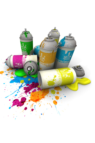Paint Cans iPhone Wallpaper