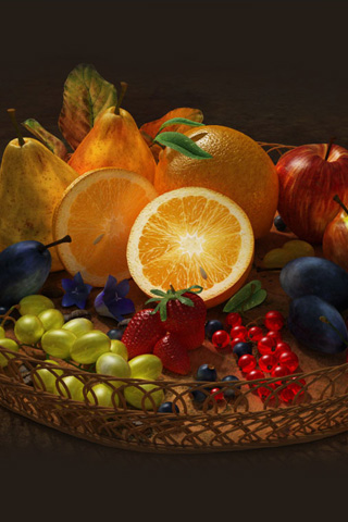 Fruit Basket iPhone Wallpaper
