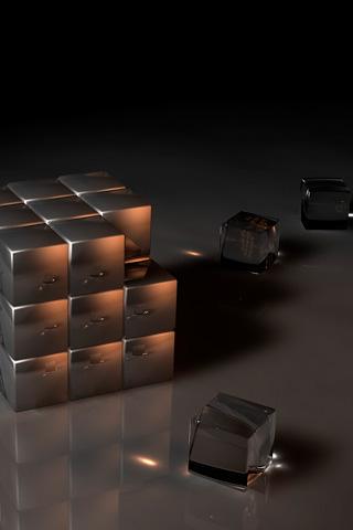 Cubes iPhone Wallpaper