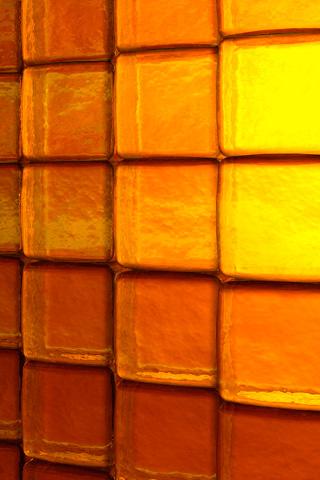 Golden Blocks iPhone Wallpaper