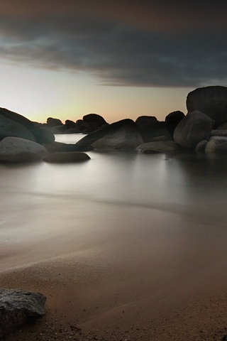 Sandy Shore iPhone Wallpaper