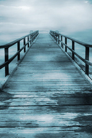Creepy Bridge iPhone Wallpaper